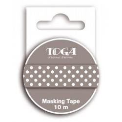 Washi Tape - Toga - Pois Grigio