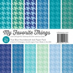 My Favorite Things 6x6 pad - True Blue Houndstooth