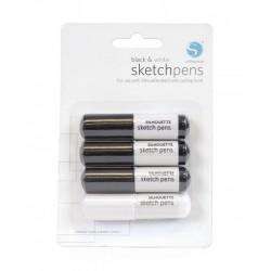 Penne Silhouette – bianco e nero