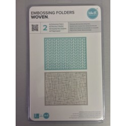 Embossing Folder We r Memory - Woven