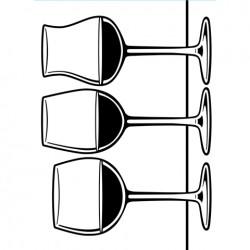 Embossing Folder Darice - Wine Glasses