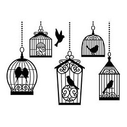 Embossing Folder Darice - Birdcages