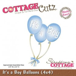 Fustella Cottage Cutz - It's a Boy Balloons