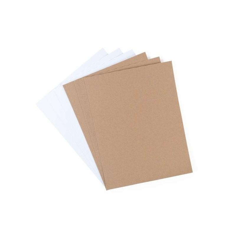 Carta corrugata adesiva cartoncino mille righe silhouette for Carta adesiva a righe
