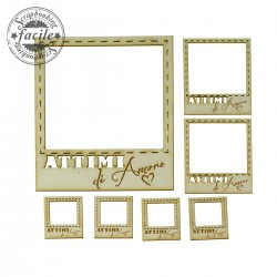 Abbellimenti in cartone vegetale Scrapbooking Facile - Attimi Polaroid