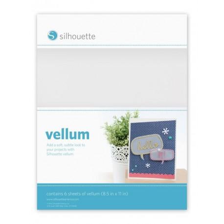 Carta velina semi-trasparente Vellum Silhouette