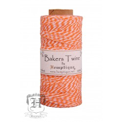 Bakers Twine by Hemptique Cotton - Orange & White