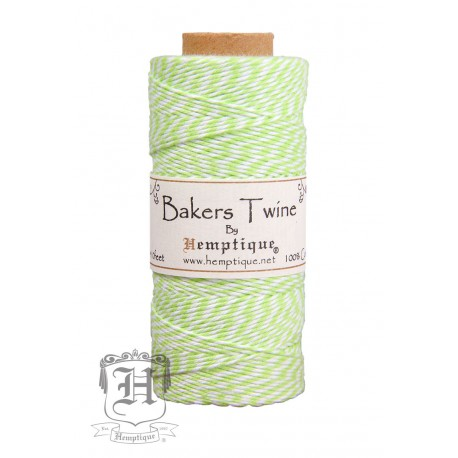 Bakers Twine by Hemptique Cotton - Green & White