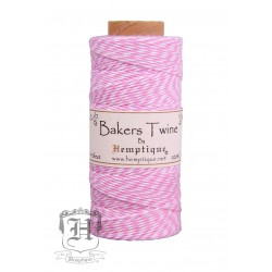 Bakers Twine by Hemptique Cotton - Pink & White