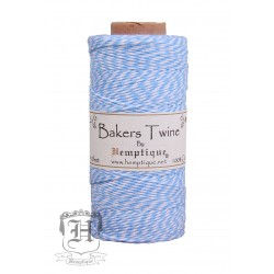 Bakers Twine by Hemptique Cotton - Light Blue & White