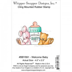 Timbro cling Whipper Snapper Designs - Welcome baby