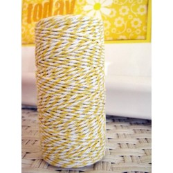 Bakers Twine by Hemptique Cotton - Yellow & White