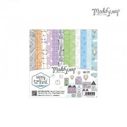Pad Carte 15x15cm ModaScrap - Happy Travel