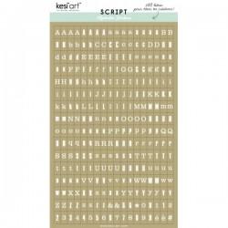 Alfabeto sticker kesi'art - Kraft