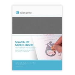 Fogli Scratch-off Silhouette - Silver