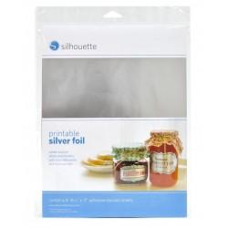 Foglio adesivo Silhouette stampabile argento