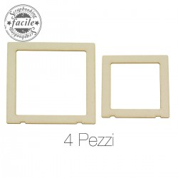 Abbellimenti in cartone vegetale Scrapbooking Facile - Cornici Quadrate