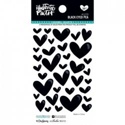 Enamel Hearts Illustrated Faith - Black Eyed Pea