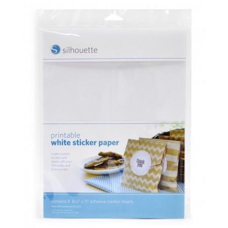 Fogli adesivi Silhouette stampabili bianchi