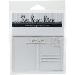 Timbro Clear Two Paper Divas - Post Card