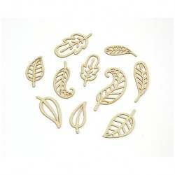 Abbellimenti in cartone vegetale Yuppla - Natura - Foglie
