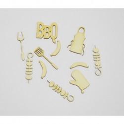 Abbellimenti in cartone vegetale Yuppla - Cucina & Co - BBQ