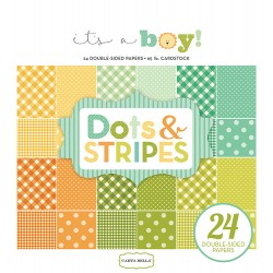 Carta bella 6x6 pad - It's a Boy Dots & Stripes