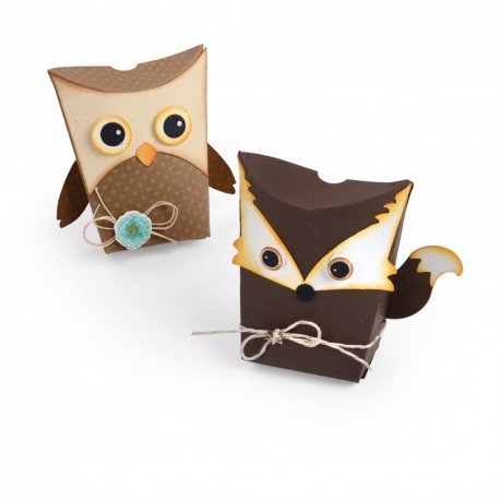 Fustella Sizzix Thinlits - Box, Owl & Fox
