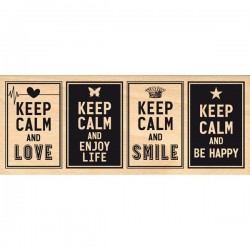 Timbro legno Florileges - Keep Calm