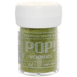 Perline Microbeads American Crafts - POP! - Leaf/Verde lime