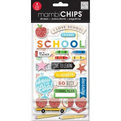 Stickers Chips Me&My Big Ideas - I Love School