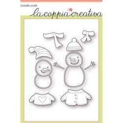 Fustella La Coppia Creativa Pupazzi di Neve