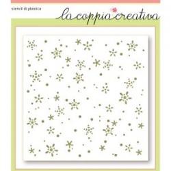 Stencil La Coppia Creativa - Fiocchi di Neve