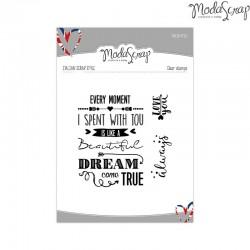 Timbro Clear ModaScrap English Style - DREAM