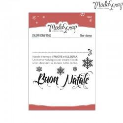 Timbro Clear ModaScrap Natale - BUON NATALE