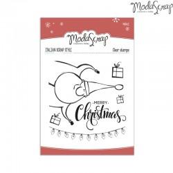 Timbro Clear ModaScrap Natale - MERRY CHRISTMAS
