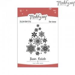 Timbro Clear ModaScrap Natale - Albero di Fiocchi