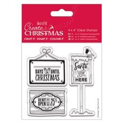 Timbro clear Docrafts - Christmas Signs