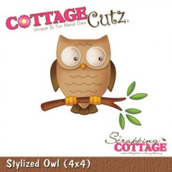 Fustella Cottage Cutz - Stylized Owl