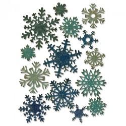 Fustella Sizzix Thinlits T. Holtz - Paper Snowflakes, Mini