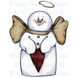 Timbro cling Whipper Snapper Designs - Snowman Angel