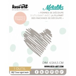 Fustella Kesi'Art - Métaliks mini Coeur signè main
