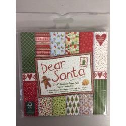 Pad carte 6x6 Trimcraft - Dear Santa