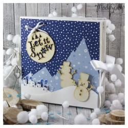 Scrap In A Box Modascrap - Mini Album Let It Snow