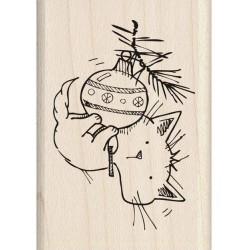 Timbro legno Inkadinkado - Christamas Kitty