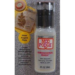 Mod Podge Plaid - Dimensional Magic - Silver