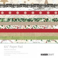 KaiserCraft 6.5x6.5 pad - Home For Christmas