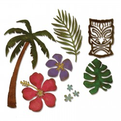 Fustella Sizzix Thinlits T. Holtz - Tropical