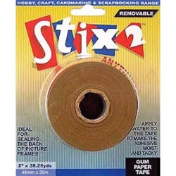 Removable Gummed Paper Tape - Stix2