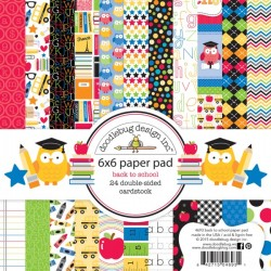 Doodlebug Design 6x6 pad - Back To School